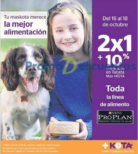 +Kota: 2x1 y 10% de bonificación en ProPlan