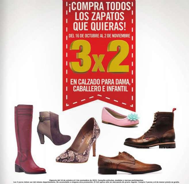 Sears: 3x2 en todo el calzado
