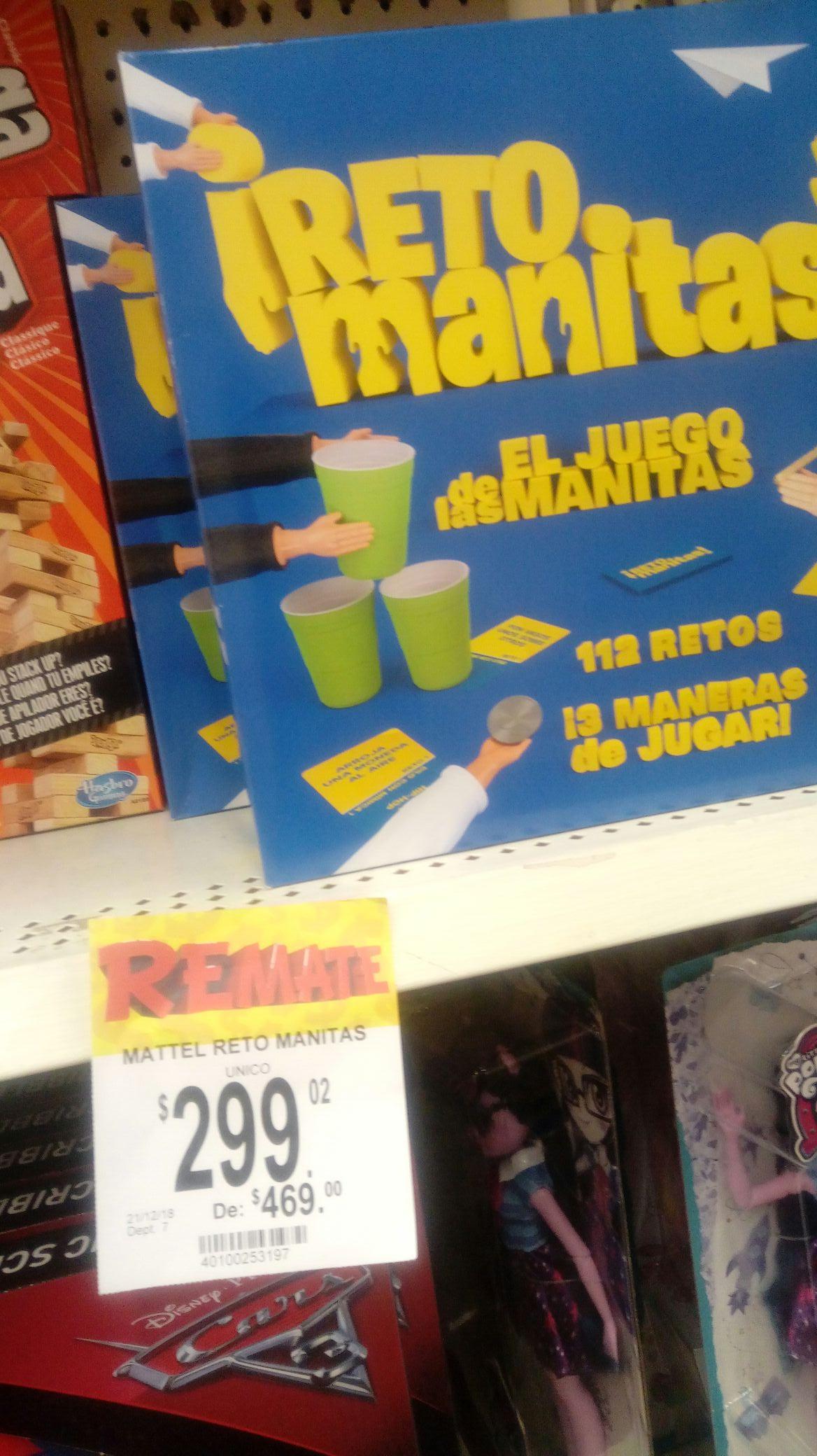 Bodega Aurrera Reto Manitas Juego De Mesa Mattel Promodescuentos Com