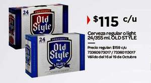 City Club Cerveza Old Style regular o Light 24 latas $115.00