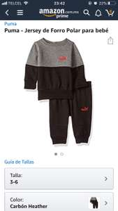 Amazon: pants puma bebé (3-6 meses)