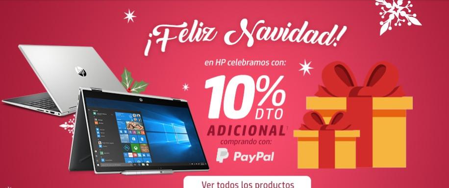 Tienda HP: 10% de descuento en pagina de HP pagando con paypal