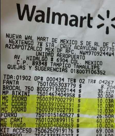 Walmart. Coordinados de brassier y tanga a $10.03 y faja Body Siluette $60.02