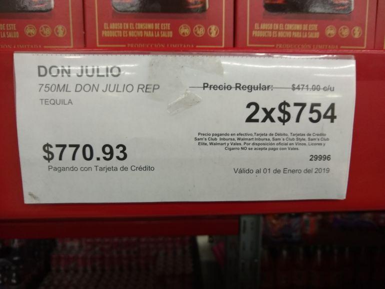 Sam's Club: 2 Don Julio $754