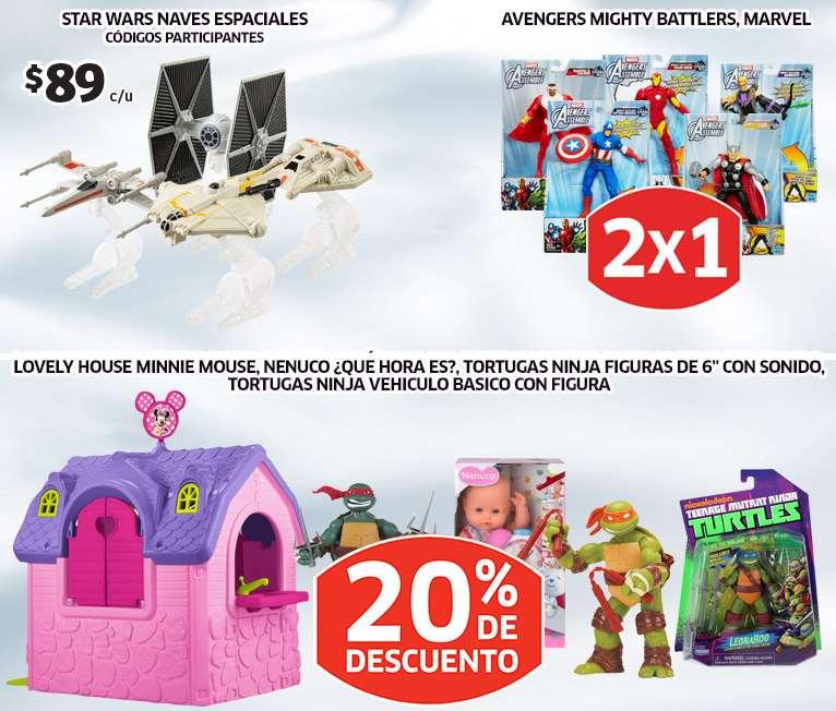 Soriana: 2x1 en figuras de Avengers y naves seleccionadas de Star Wars $89
