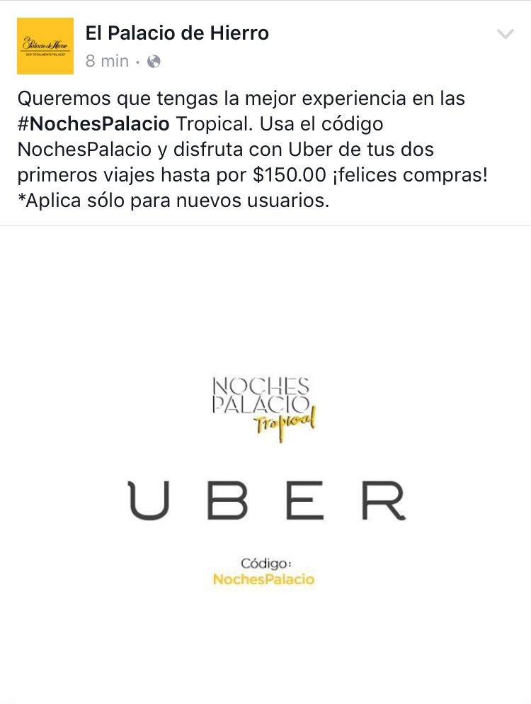 Cupón de 2 viajes GRATIS de hasta $150 en Uber (nuevos clientes)