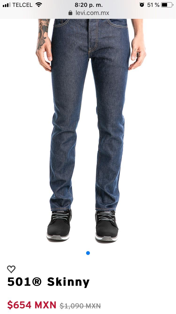 Descuento en pantalones Levis hasta del -50%