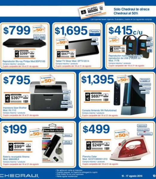 Chedraui: Wii reacondicionado $1,395 y $697 de bonificación, blu-ray $799 y $399 de bonificación y +