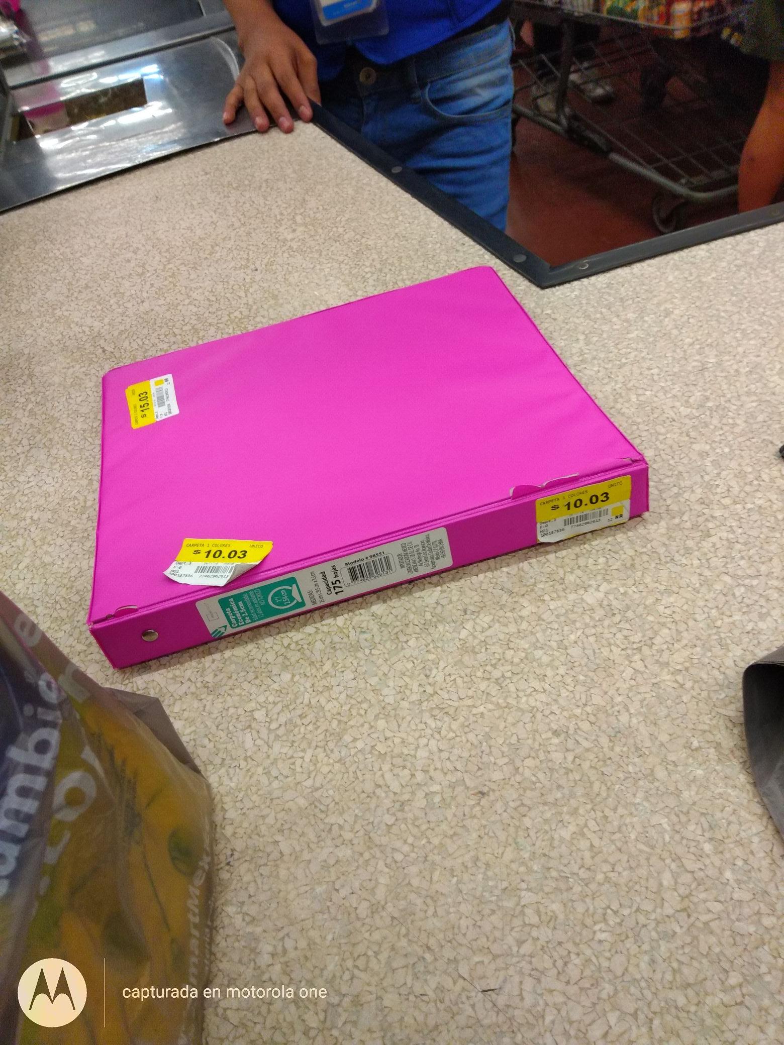 Walmart Símbolos Patrios Oax Carpeta plástica $0.01 triste promorelato, portagafetes, gorros y más