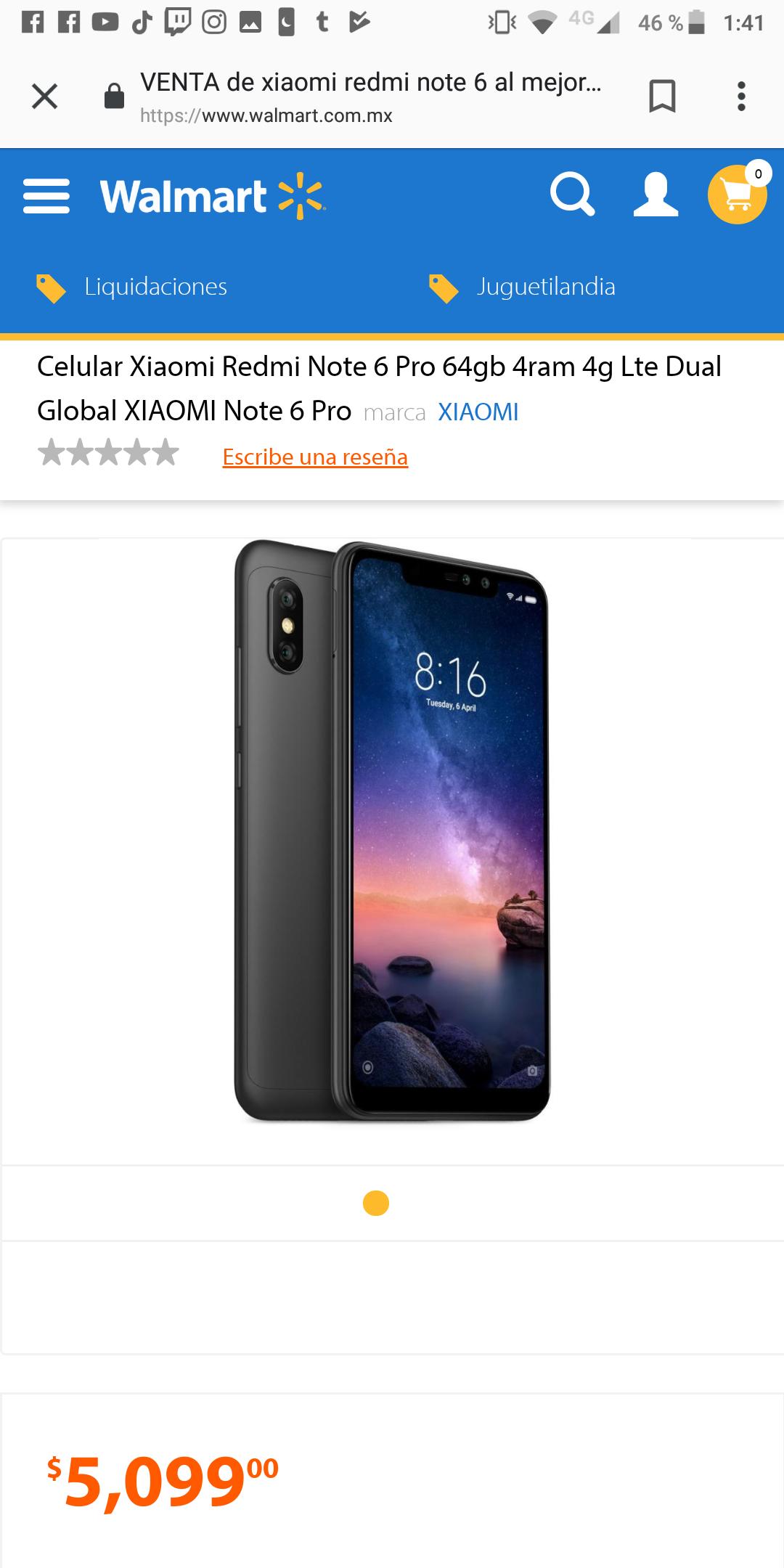 Walmart: Xiaomi Redmi Note 6 Pro 64Gb