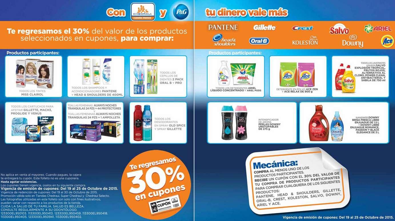 Chedraui: 30% de bonificación comprando productos Procter & Gamble