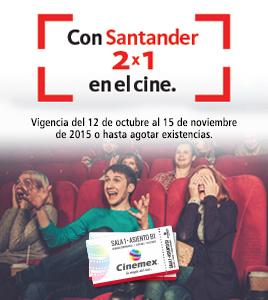 Cinemex: 2x1 pagando con Mastercard