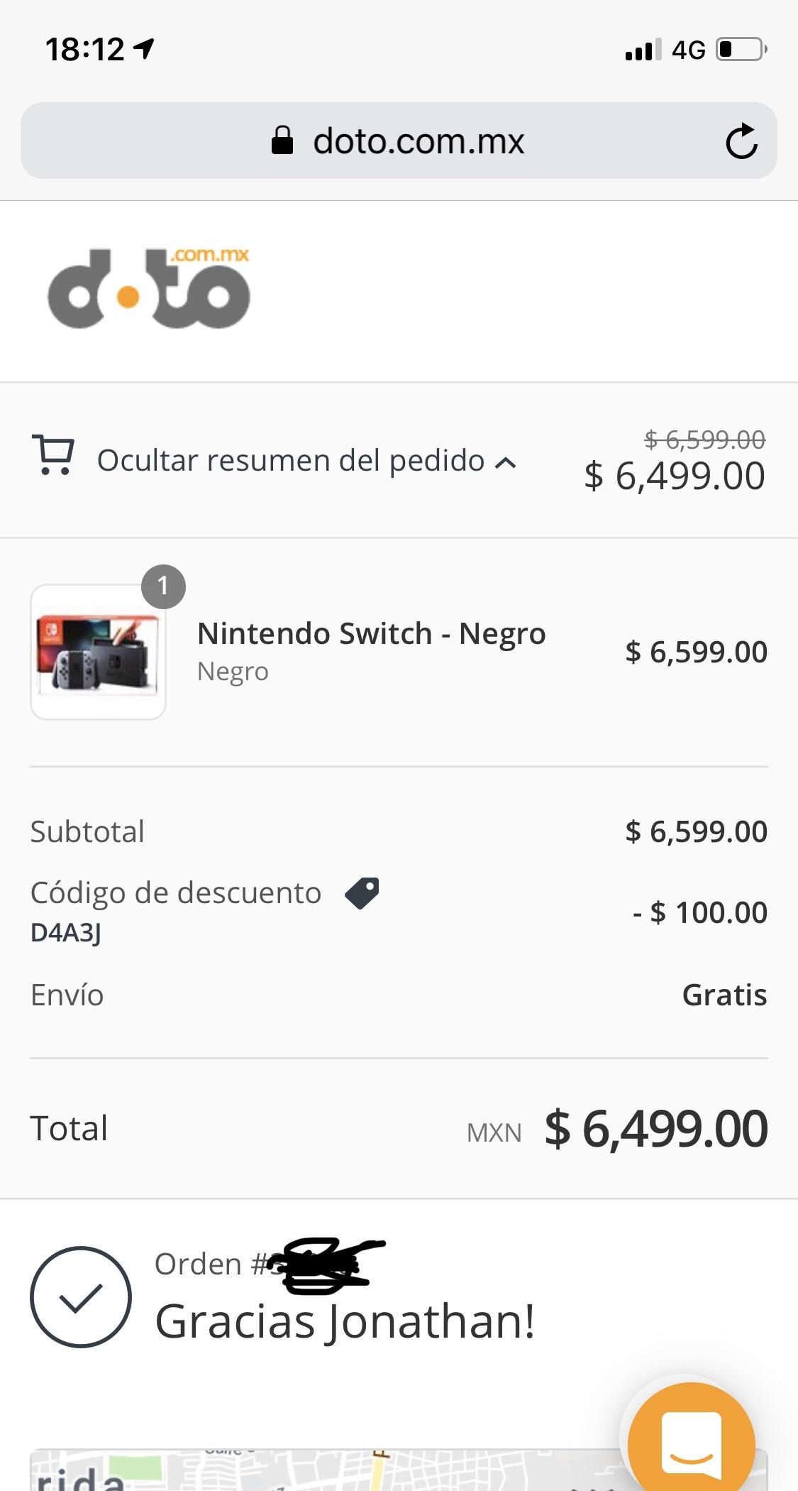 Doto: Nintendo Switch Neon o Gris