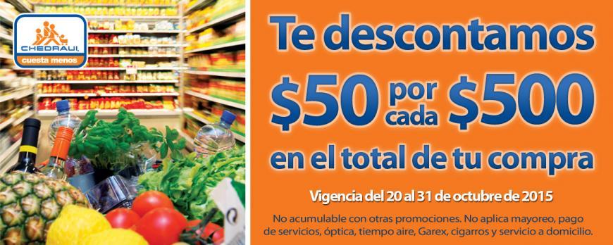 Chedraui: Nuevos Cupones $50 por cada $500 y 15% en Brassieres