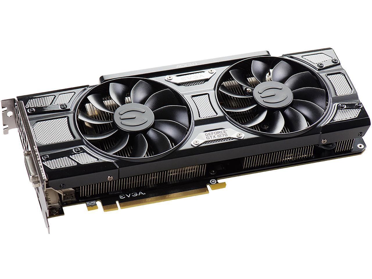 Newegg: EVGA GeForce GTX 1070 Black Edition  (Impuestos incluídos)