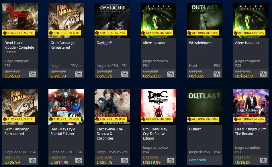 PSN Store: Oferta de los muertos. Semana 1