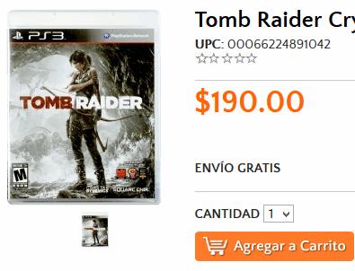 Walmart: Tomb Raider $190 (PS3)