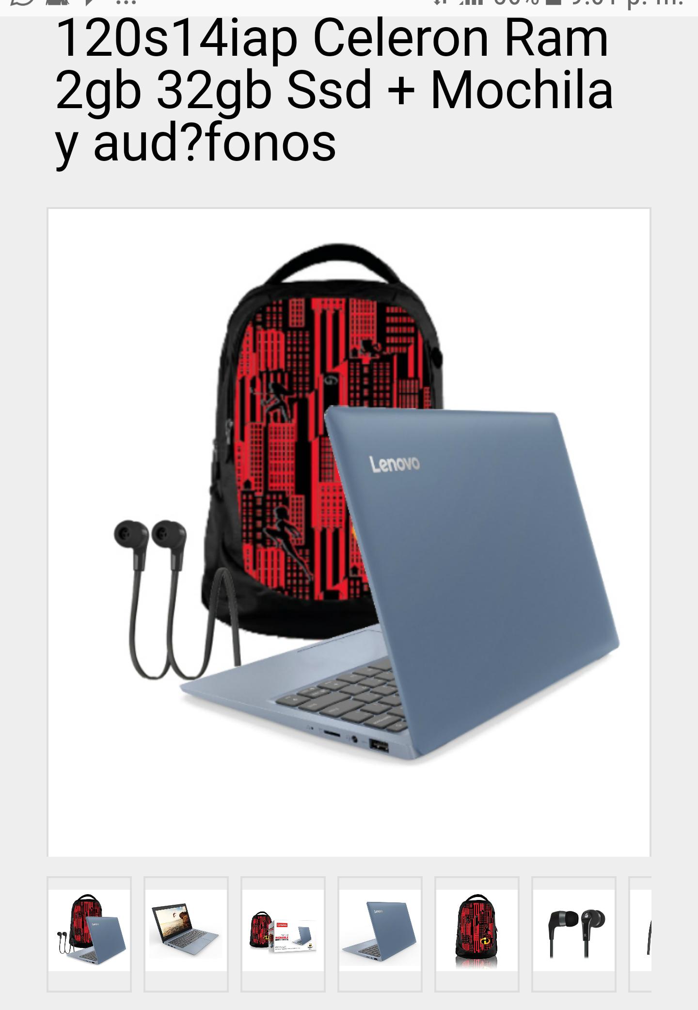 Walmart: laptop lenovo los increibles 2