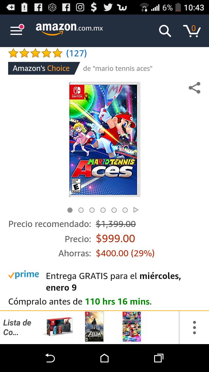 Amazon: Mario Tennis Aces