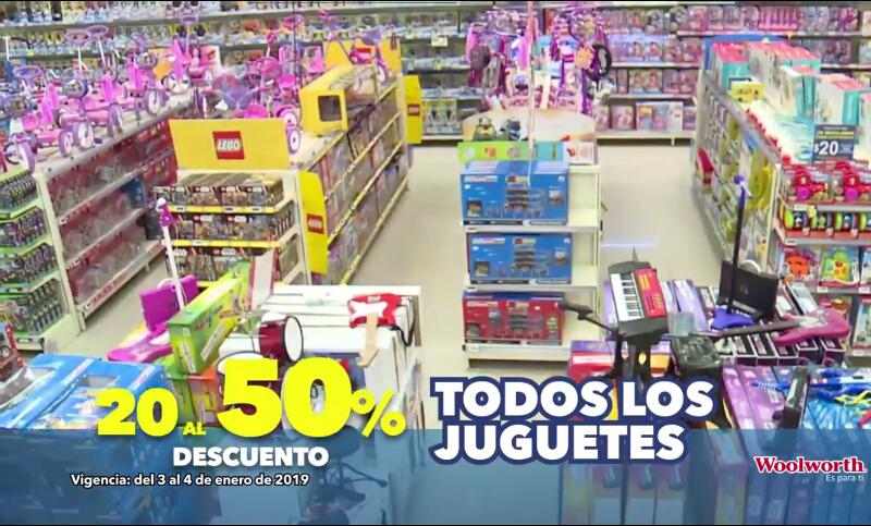 Woolworth: Del 20% al 50% de descuento en todos los juguetes