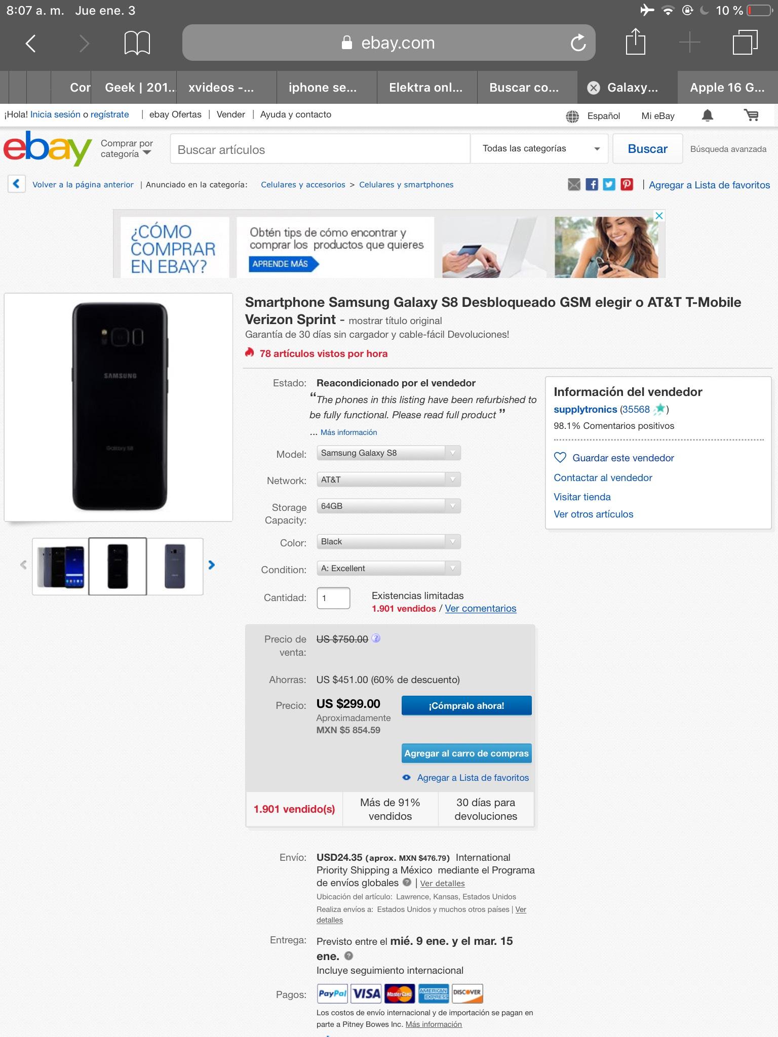 ebay: S8 reacondicionado