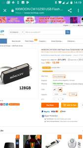 Tomtop: KKMOON CW10290 USB Flash Drive128GB USB2.0