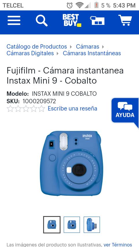 Best Buy: Compra Cámara Instax Mini 9 Y llévate GRATIS Una Máquina de palomitas