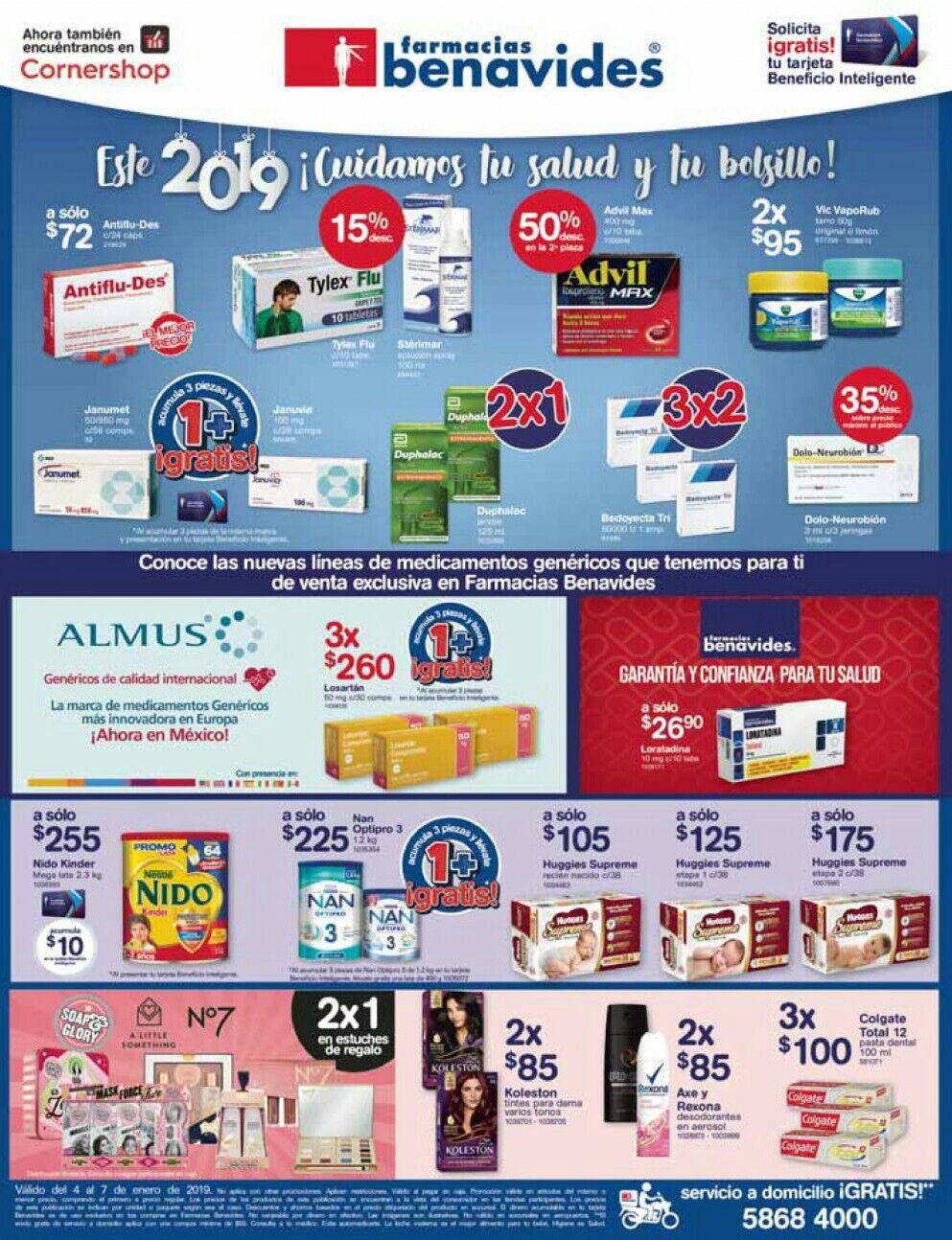 Farmacias Benavides: Ofertas del Viernes 4 al Lunes 7 de Enero