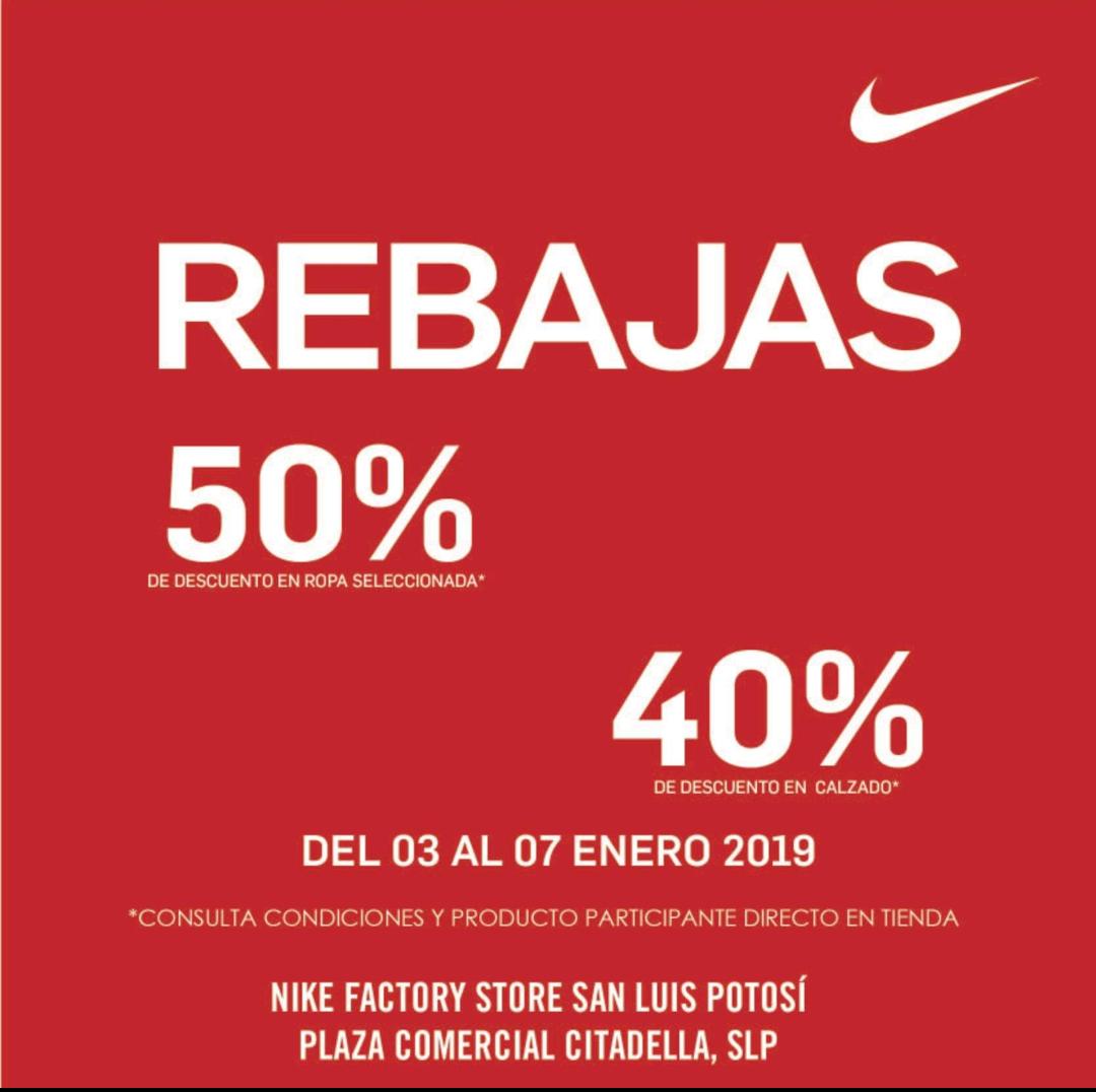 Nike Factori Store SLP: hasta 50% de descuento en ropa