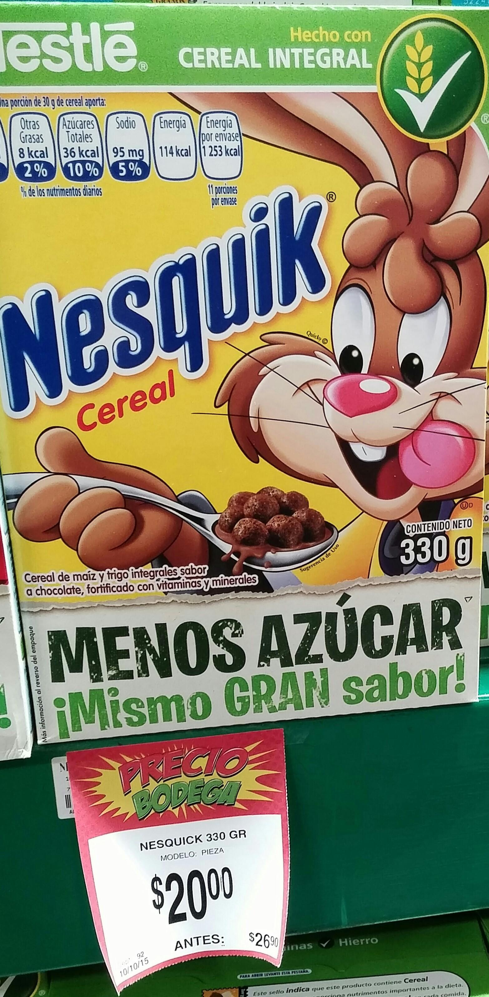 Bodega Aurrerá: Cereales Nestle a $20