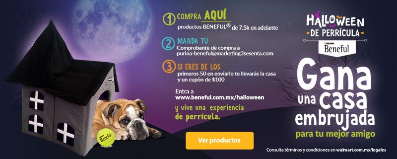 Walmart: Casa embrujada + Cupón de $100 al comprar y enviar ticket de productos Beneful