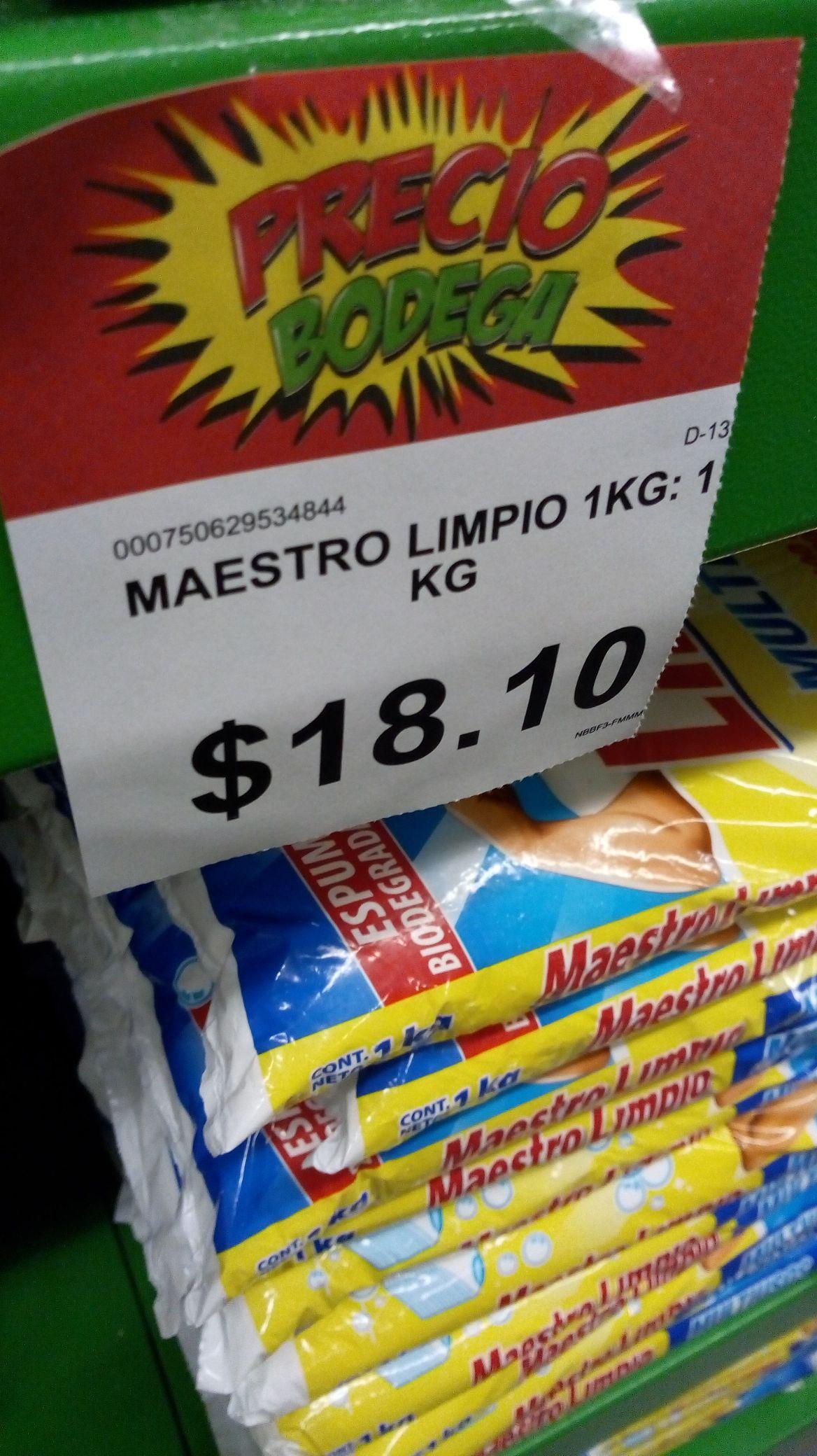 Bodega Aurrerá: Maestro Limpio 1kg