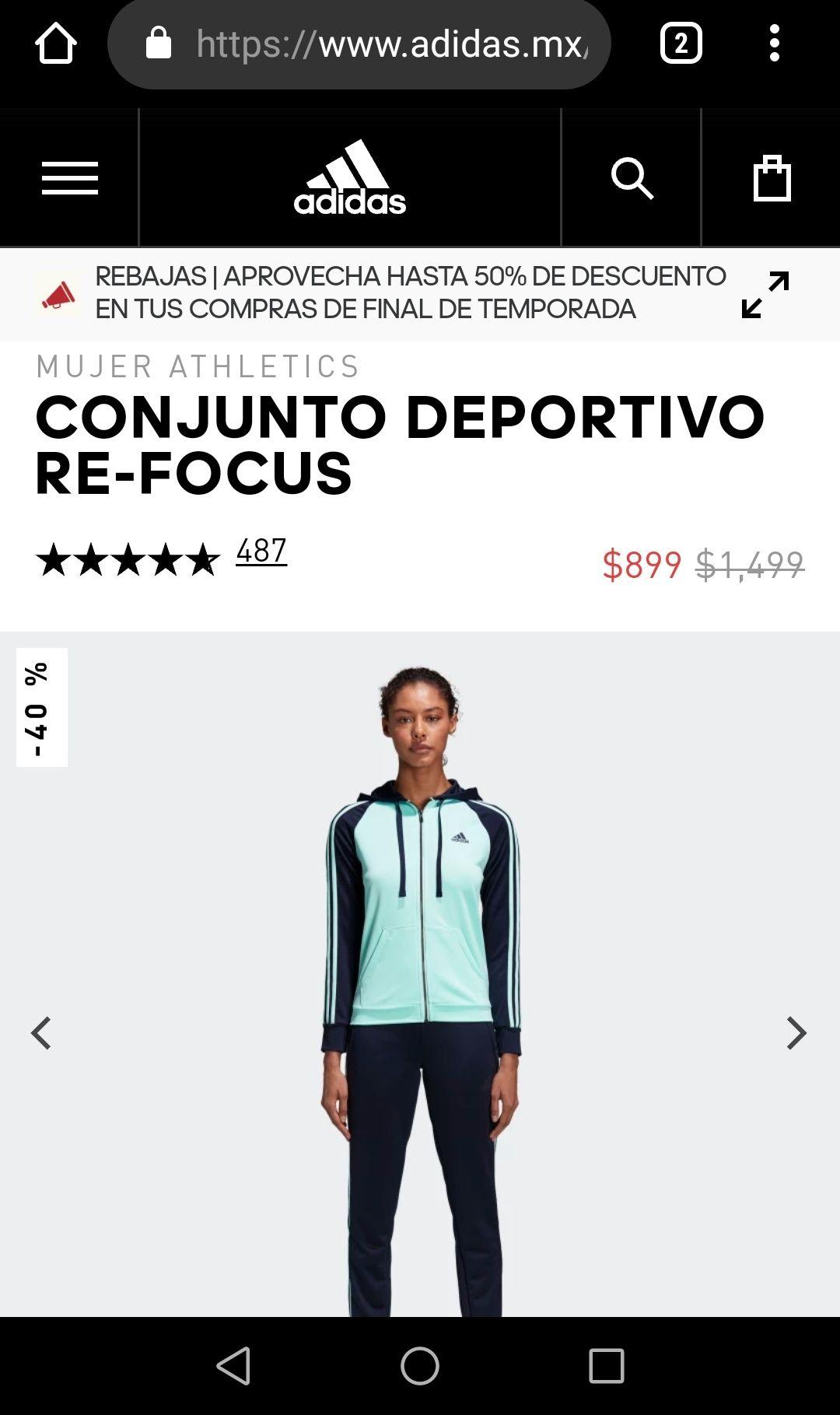 Adidas: Conjunto deportivo adidas para mujer