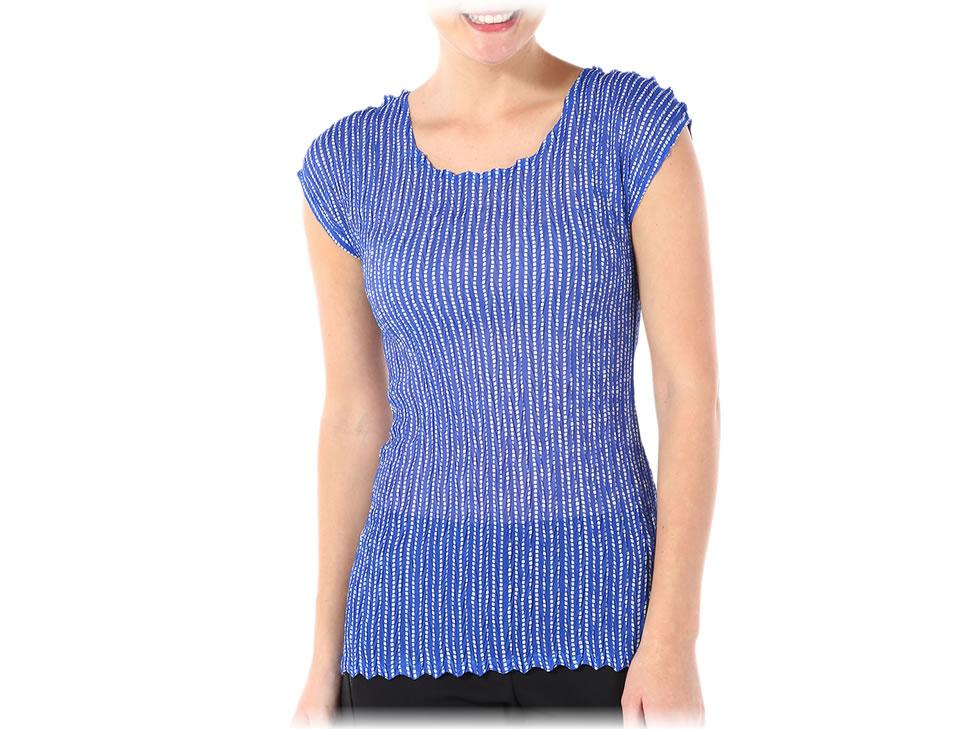 liverpool blusa plisada varios estampados marca davinchy $89