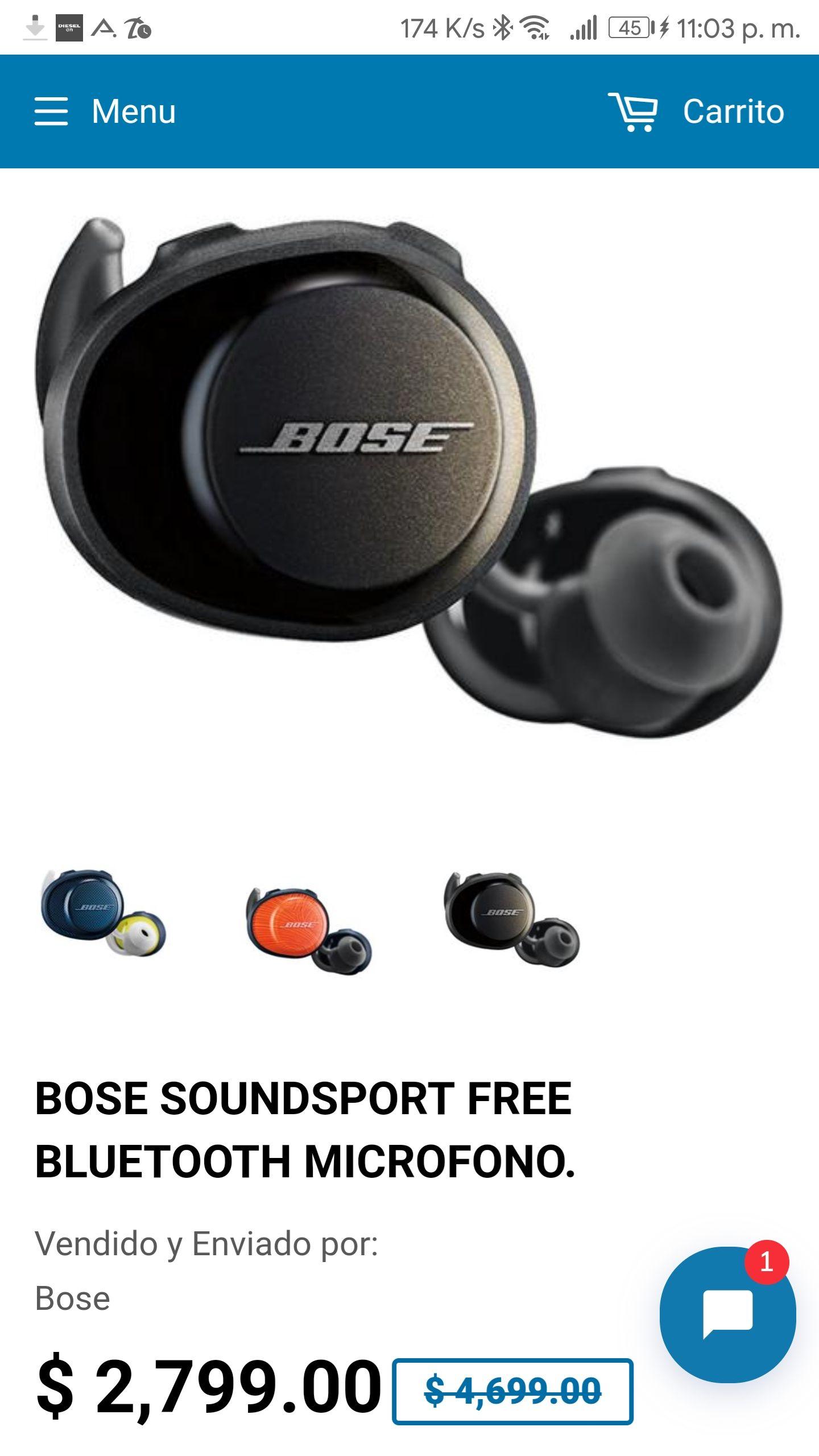 Dprisa: Bose Soundsport Free y más audífonos en descuento