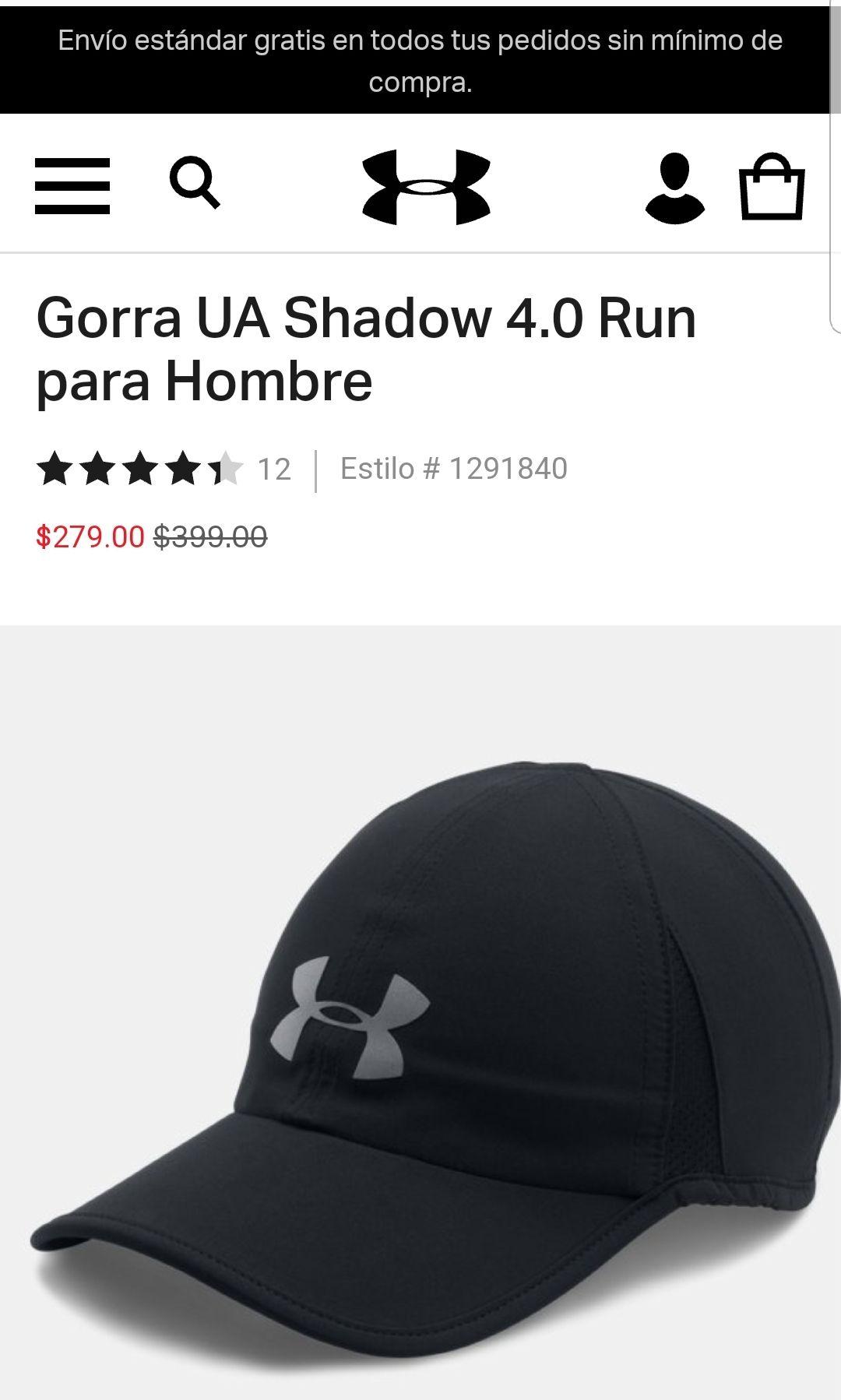 Under Armour : Gorra Deportiva