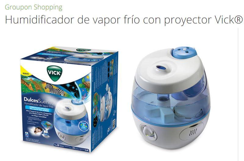 Groupon: humidificador de vapor frío Vick dulces sueños