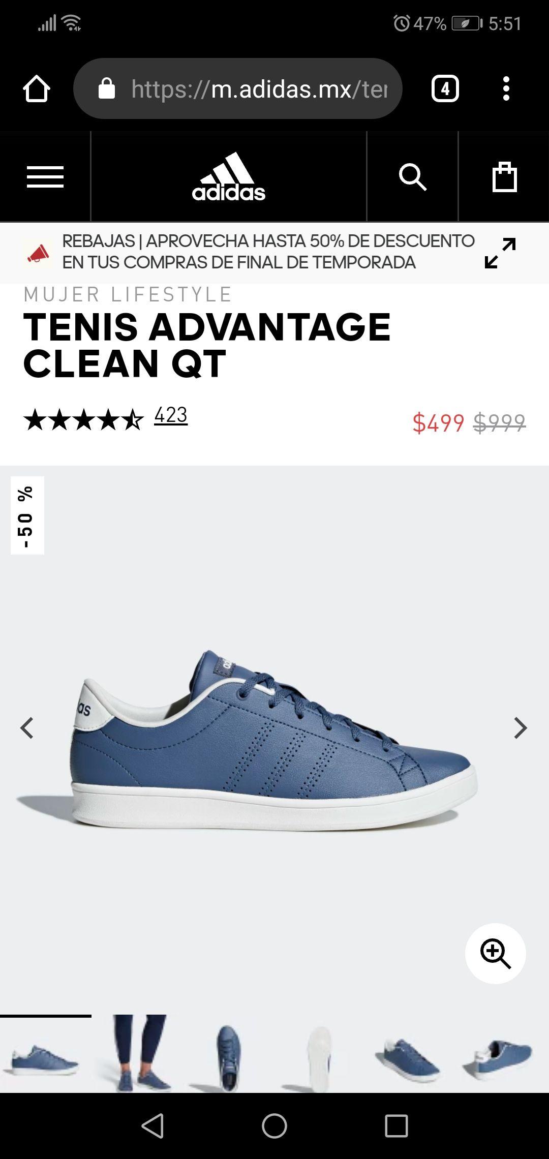 Adidas: TENIS ADVANTAGE CLEAN QT