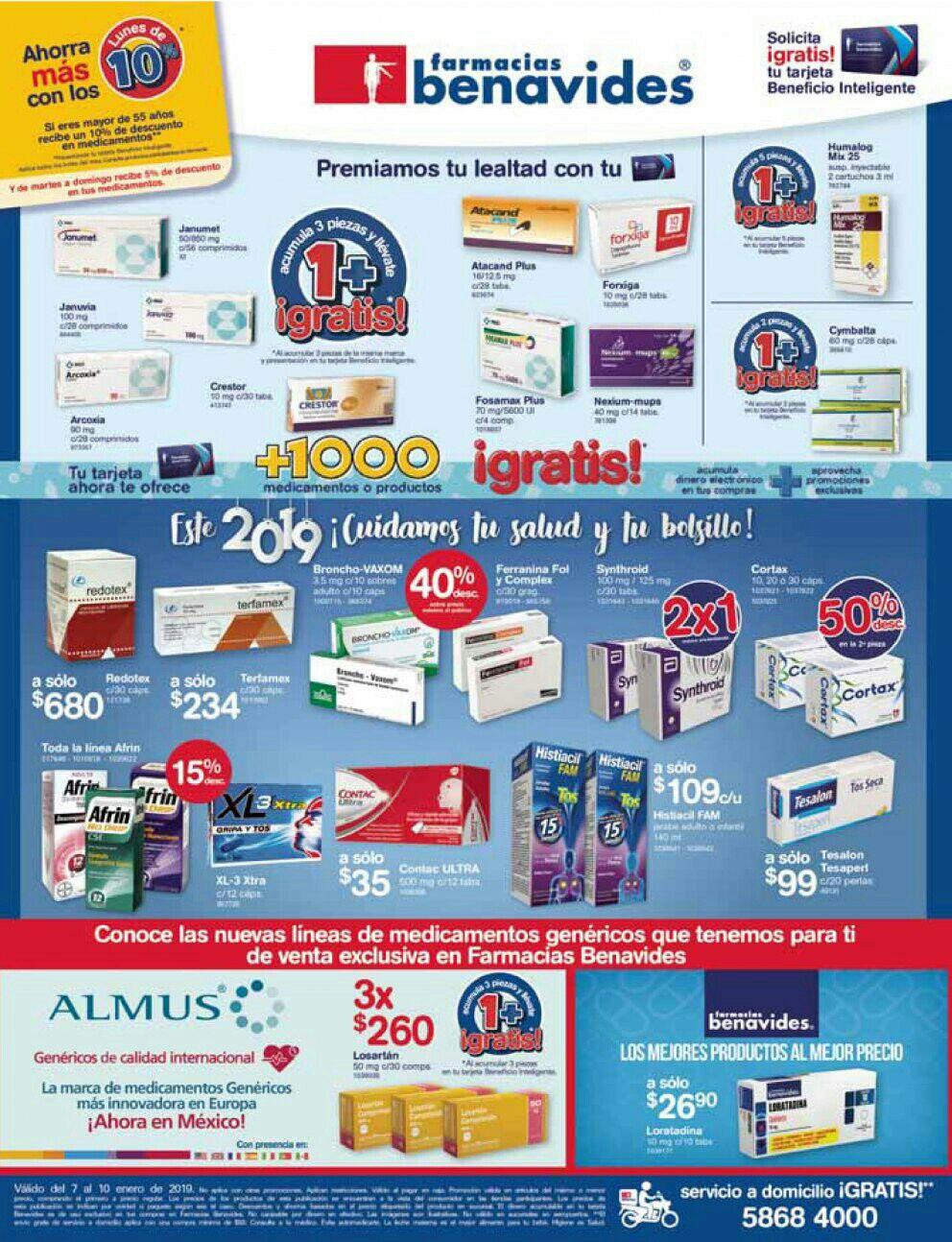 Farmacias Benavides: Ofertas del Lunes 7 al Jueves 10 de Enero