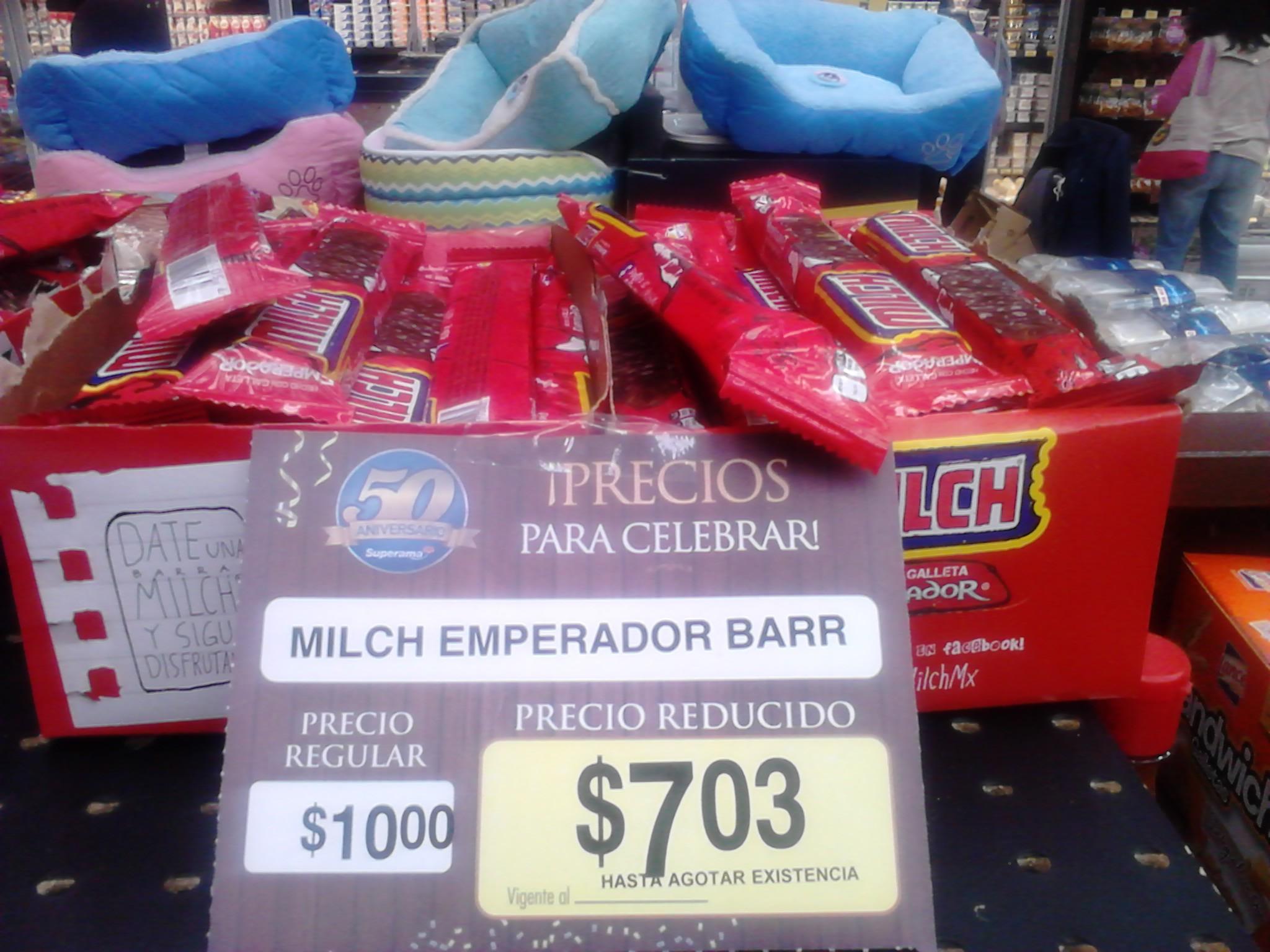 Superama: Chocolate Milch Emperador Barra $7.03