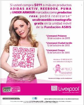 Liverpool: ultrasonido o mastografía gratis comprando artículos seleccionados