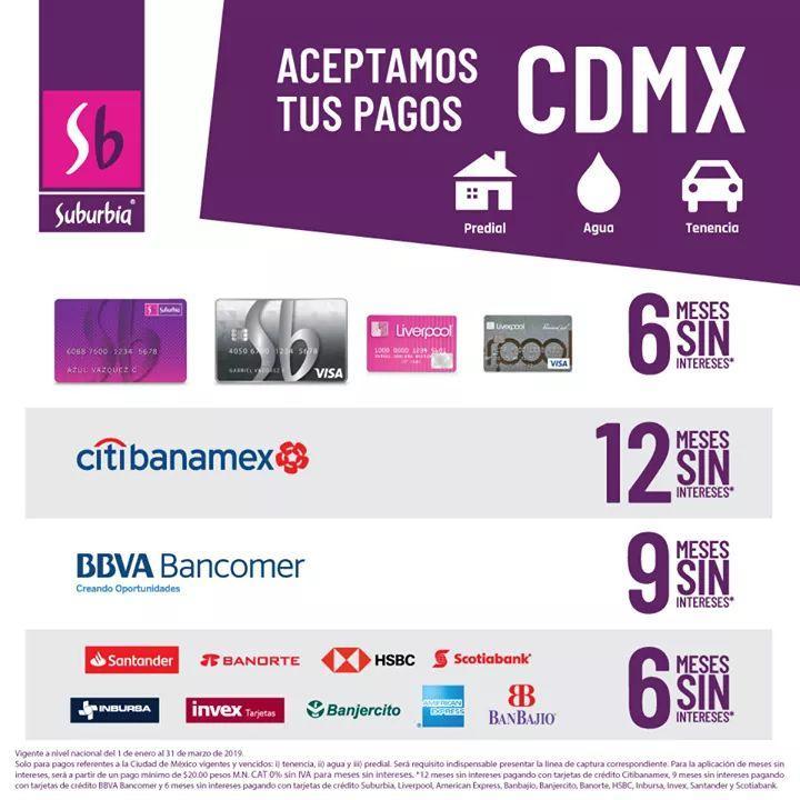 Suburbia CDMX: Paga agua, predial o tenencia hasta en 12 msi