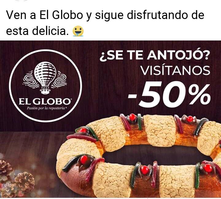 El Globo: Roscas al 50℅