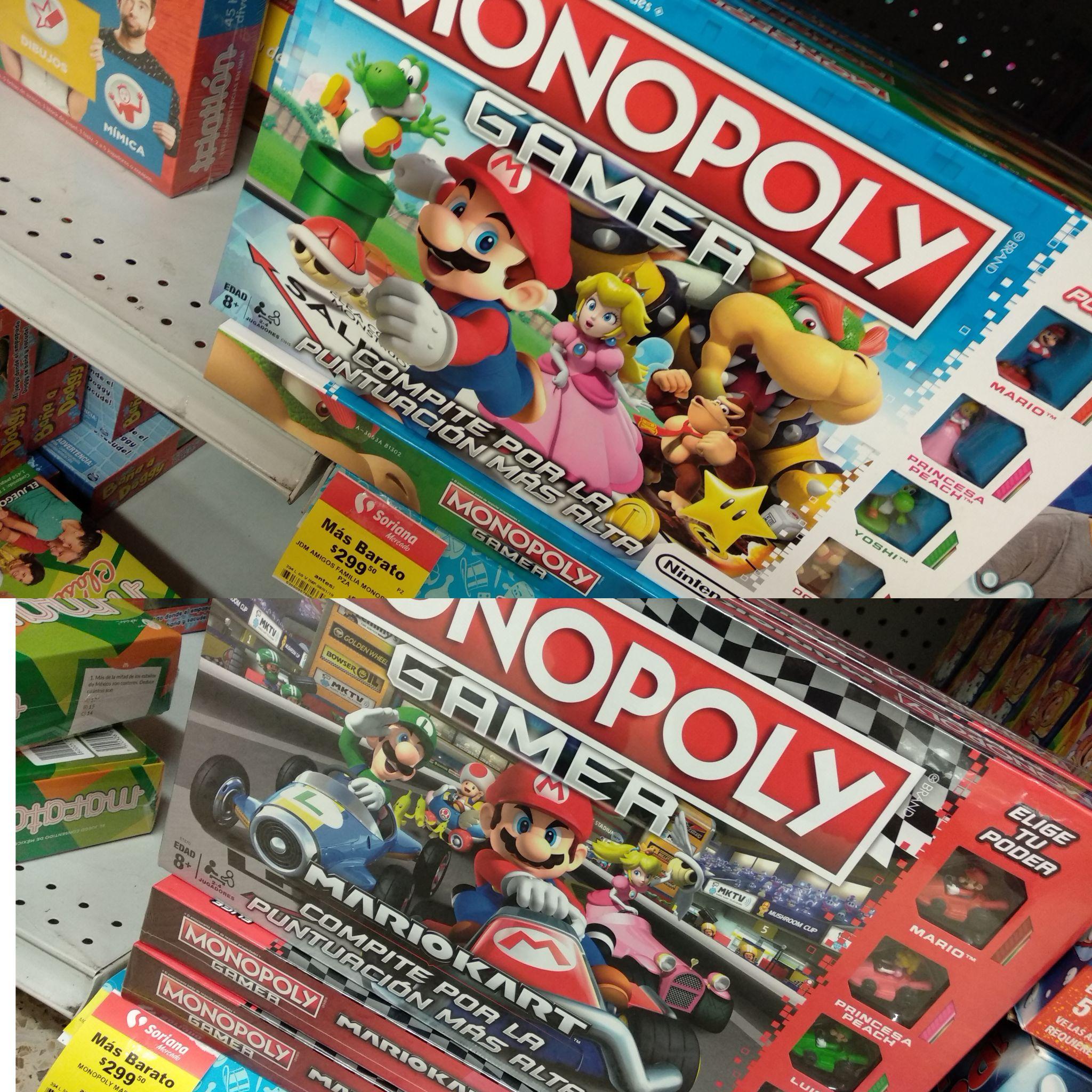 Soriana Mercado: Monopoly Gamer Mario con 50% de descuento y mas