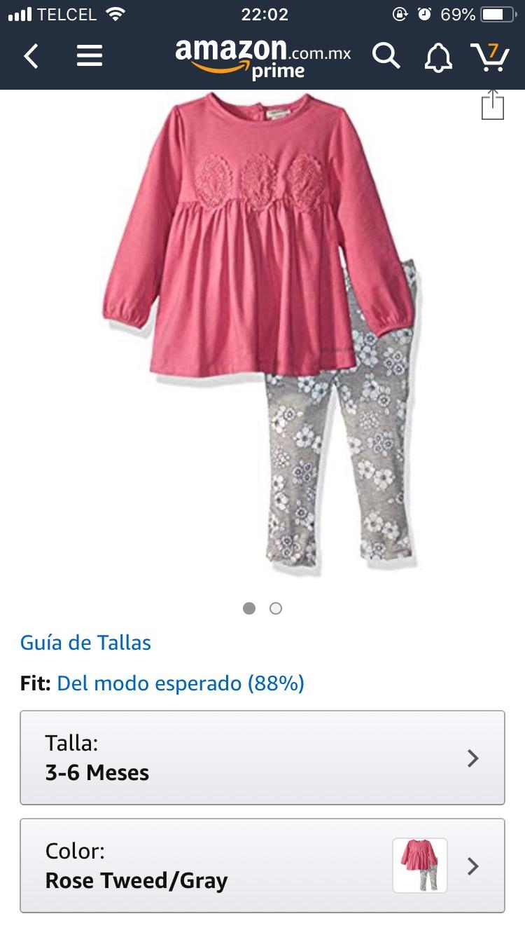 Amazon: Conjunto Calvin Klein Niña
