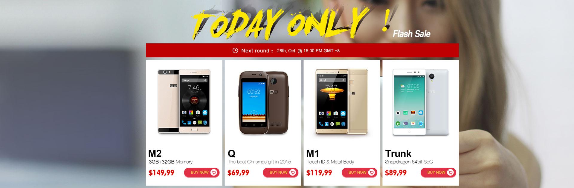 Nuevamente elephone M2 en 150 dólares el 28 de octubre