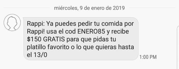 Rappi Puebla $150 pesos Gratis.