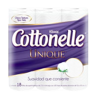 Walmart: Papel higiénico Kleenex Cottonelle Unique 2 paquetes de 18 rollos $120