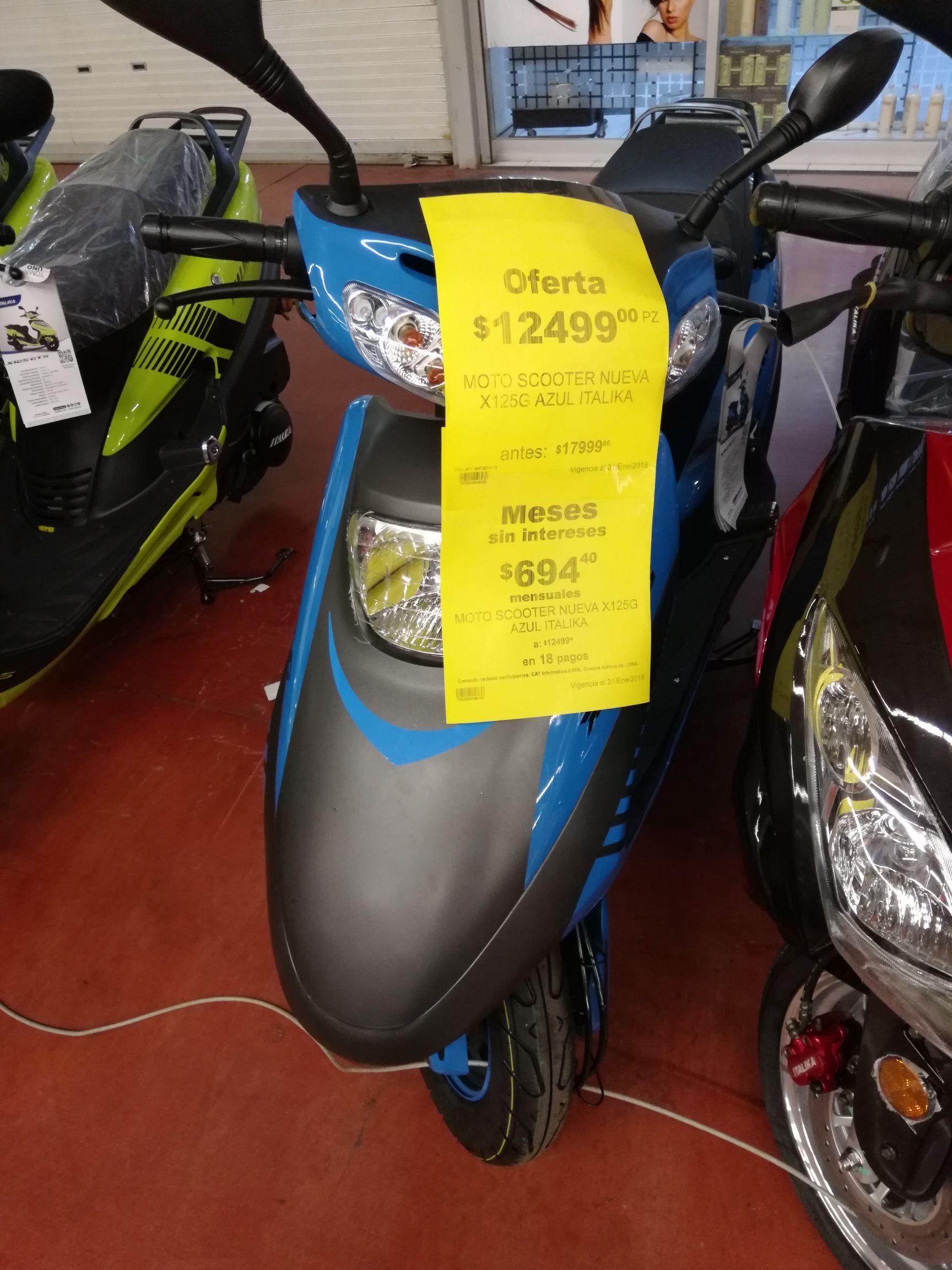 Soriana: Moto italika 125