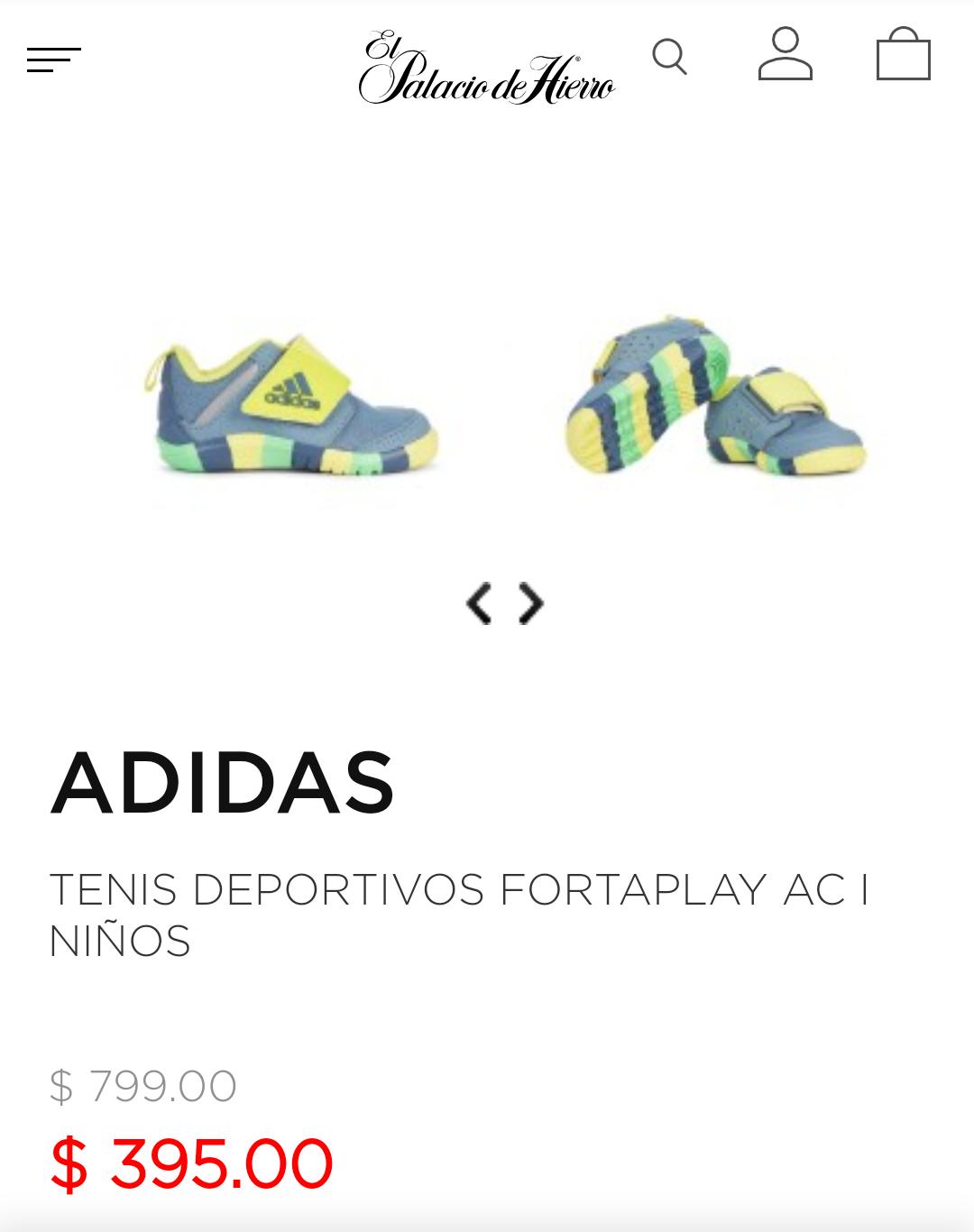 Palacio de Hierro: Adidas tenis de niño